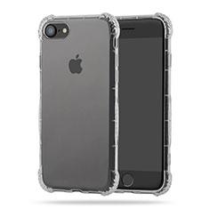 Silikon Schutzhülle Ultra Dünn Tasche Durchsichtig Transparent T10 für Apple iPhone 7 Klar