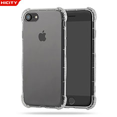 Silikon Schutzhülle Ultra Dünn Tasche Durchsichtig Transparent T10 für Apple iPhone 8 Klar