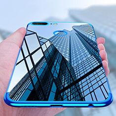 Silikon Schutzhülle Ultra Dünn Tasche Durchsichtig Transparent T10 für Huawei Honor 9 Lite Blau