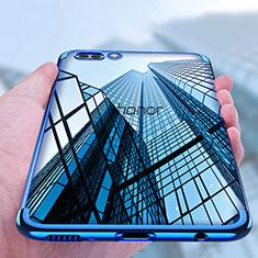 Silikon Schutzhülle Ultra Dünn Tasche Durchsichtig Transparent T10 für Huawei Honor V10 Blau