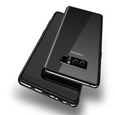Silikon Schutzhülle Ultra Dünn Tasche Durchsichtig Transparent T10 für Samsung Galaxy Note 8 Schwarz