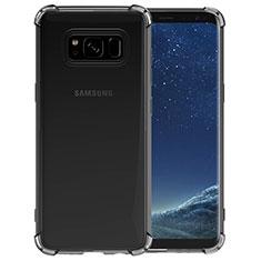 Silikon Schutzhülle Ultra Dünn Tasche Durchsichtig Transparent T10 für Samsung Galaxy S8 Grau