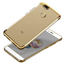 Silikon Schutzhülle Ultra Dünn Tasche Durchsichtig Transparent T10 für Xiaomi Mi A1 Gold