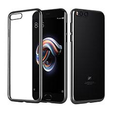 Silikon Schutzhülle Ultra Dünn Tasche Durchsichtig Transparent T10 für Xiaomi Mi Note 3 Schwarz