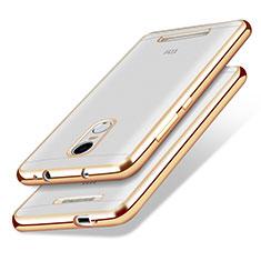 Silikon Schutzhülle Ultra Dünn Tasche Durchsichtig Transparent T10 für Xiaomi Redmi Note 3 Pro Gold