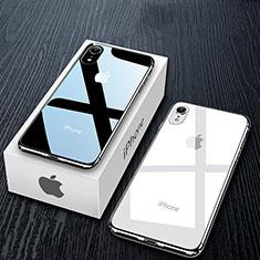 Silikon Schutzhülle Ultra Dünn Tasche Durchsichtig Transparent T11 für Apple iPhone XR Klar