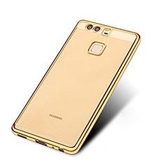 Silikon Schutzhülle Ultra Dünn Tasche Durchsichtig Transparent T11 für Huawei P9 Plus Gold