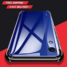 Silikon Schutzhülle Ultra Dünn Tasche Durchsichtig Transparent T11 für Huawei Y6 (2019) Schwarz