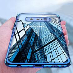 Silikon Schutzhülle Ultra Dünn Tasche Durchsichtig Transparent T11 für Samsung Galaxy Note 8 Duos N950F Blau