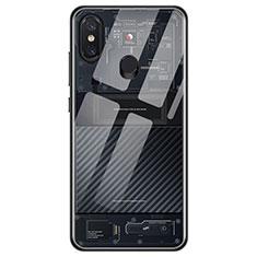 Silikon Schutzhülle Ultra Dünn Tasche Durchsichtig Transparent T11 für Xiaomi Mi 8 Schwarz