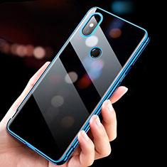 Silikon Schutzhülle Ultra Dünn Tasche Durchsichtig Transparent T11 für Xiaomi Mi Mix 3 Blau