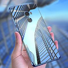Silikon Schutzhülle Ultra Dünn Tasche Durchsichtig Transparent T11 für Xiaomi Mi Mix Evo Blau