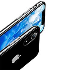 Silikon Schutzhülle Ultra Dünn Tasche Durchsichtig Transparent T12 für Apple iPhone XR Klar