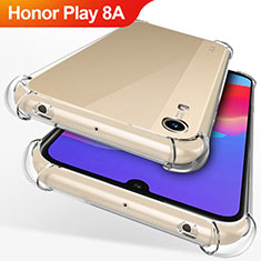 Silikon Schutzhülle Ultra Dünn Tasche Durchsichtig Transparent T12 für Huawei Honor Play 8A Klar