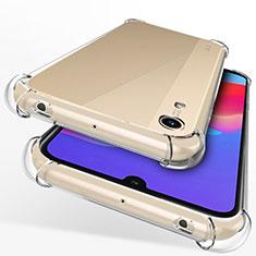 Silikon Schutzhülle Ultra Dünn Tasche Durchsichtig Transparent T12 für Huawei Y6 (2019) Klar