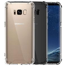 Silikon Schutzhülle Ultra Dünn Tasche Durchsichtig Transparent T12 für Samsung Galaxy S8 Klar