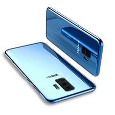 Silikon Schutzhülle Ultra Dünn Tasche Durchsichtig Transparent T12 für Samsung Galaxy S9 Plus Blau