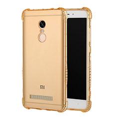 Silikon Schutzhülle Ultra Dünn Tasche Durchsichtig Transparent T12 für Xiaomi Redmi Note 3 Pro Gold