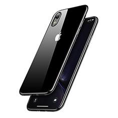 Silikon Schutzhülle Ultra Dünn Tasche Durchsichtig Transparent T15 für Apple iPhone XR Schwarz