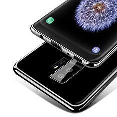 Silikon Schutzhülle Ultra Dünn Tasche Durchsichtig Transparent T15 für Samsung Galaxy S9 Plus Schwarz