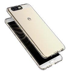 Silikon Schutzhülle Ultra Dünn Tasche Durchsichtig Transparent T16 für Huawei P10 Klar
