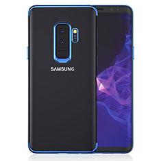 Silikon Schutzhülle Ultra Dünn Tasche Durchsichtig Transparent T16 für Samsung Galaxy S9 Plus Blau
