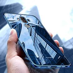Silikon Schutzhülle Ultra Dünn Tasche Durchsichtig Transparent T17 für Huawei Mate 9 Blau