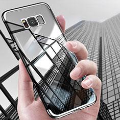 Silikon Schutzhülle Ultra Dünn Tasche Durchsichtig Transparent T17 für Samsung Galaxy S8 Silber