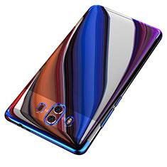 Silikon Schutzhülle Ultra Dünn Tasche Durchsichtig Transparent T18 für Huawei Mate 10 Blau