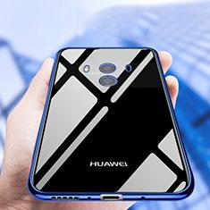 Silikon Schutzhülle Ultra Dünn Tasche Durchsichtig Transparent T19 für Huawei Mate 10 Blau
