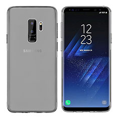 Silikon Schutzhülle Ultra Dünn Tasche Durchsichtig Transparent T20 für Samsung Galaxy S9 Plus Grau