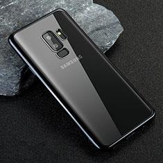 Silikon Schutzhülle Ultra Dünn Tasche Durchsichtig Transparent T21 für Samsung Galaxy S9 Plus Blau