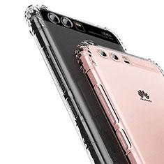 Silikon Schutzhülle Ultra Dünn Tasche Durchsichtig Transparent U01 für Huawei P10 Klar