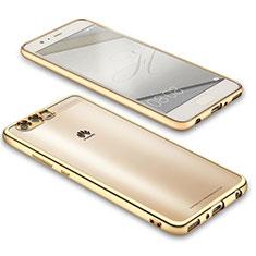 Silikon Schutzhülle Ultra Dünn Tasche Durchsichtig Transparent U02 für Huawei P10 Plus Gold
