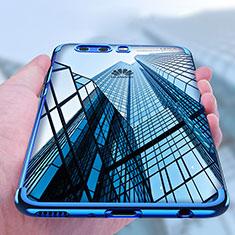 Silikon Schutzhülle Ultra Dünn Tasche Durchsichtig Transparent U03 für Huawei P10 Blau