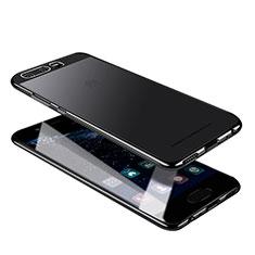 Silikon Schutzhülle Ultra Dünn Tasche Durchsichtig Transparent U05 für Huawei P10 Schwarz