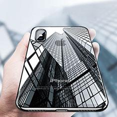 Silikon Schutzhülle Ultra Dünn Tasche Durchsichtig Transparent V12 für Apple iPhone Xs Max Schwarz