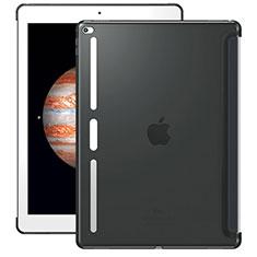 Silikon Schutzhülle Ultra Dünn Tasche Durchsichtig Transparent Z01 für Apple iPad Pro 12.9 Grau