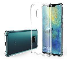 Silikon Schutzhülle Ultra Dünn Tasche Durchsichtig Transparent Z01 für Huawei Mate 20 Pro Klar