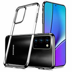 Silikon Schutzhülle Ultra Dünn Tasche Flexible Hülle Durchsichtig Transparent N02 für Samsung Galaxy Note 20 5G Schwarz