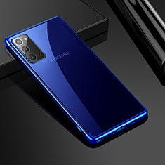 Silikon Schutzhülle Ultra Dünn Tasche Flexible Hülle Durchsichtig Transparent N03 für Samsung Galaxy Note 20 5G Blau