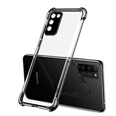 Silikon Schutzhülle Ultra Dünn Tasche Flexible Hülle Durchsichtig Transparent S01 für Huawei Honor 30 Lite 5G Schwarz