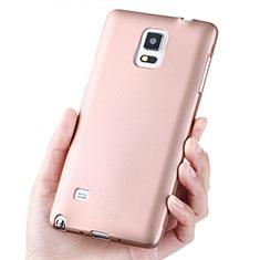 Silikon Schutzhülle Ultra Dünn Tasche S02 für Samsung Galaxy Note 4 Duos N9100 Dual SIM Rosegold