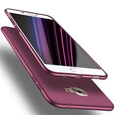 Silikon Schutzhülle Ultra Dünn Tasche S03 für Samsung Galaxy C7 Pro C7010 Violett