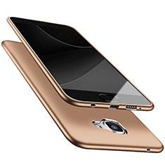 Silikon Schutzhülle Ultra Dünn Tasche S05 für Samsung Galaxy A9 Pro (2016) SM-A9100 Gold