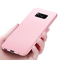 Silikon Schutzhülle Ultra Dünn Tasche S06 für Samsung Galaxy S8 Plus Rosa