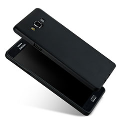 Silikon Schutzhülle Ultra Dünn Tasche Silikon für Samsung Galaxy A7 Duos SM-A700F A700FD Schwarz
