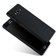 Silikon Schutzhülle Ultra Dünn Tasche Silikon für Samsung Galaxy A7 SM-A700 Schwarz