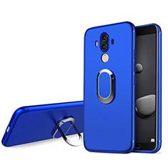 Silikon Schutzhülle Ultra Dünn Tasche Silikon mit Fingerring Ständer für Huawei Mate 10 Pro Blau
