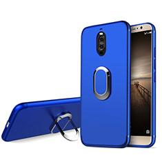 Silikon Schutzhülle Ultra Dünn Tasche Silikon mit Fingerring Ständer für Huawei Mate 9 Pro Blau
